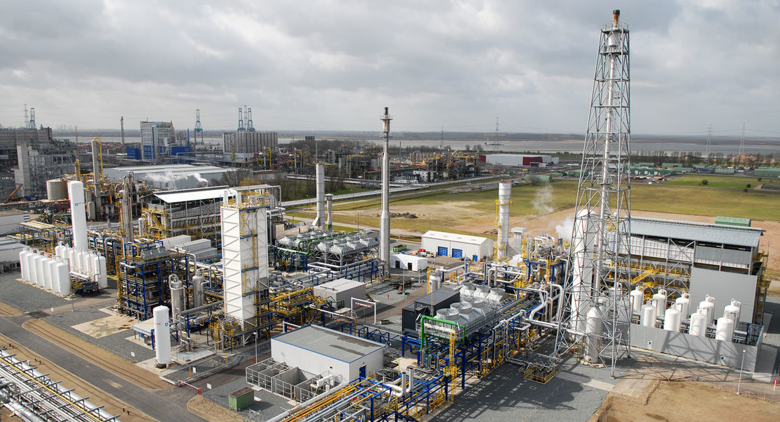 A hydrogen production unit in Belgium.