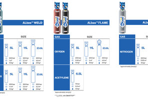 ALbee™ Weld, Flame, Cool cylinder sizes