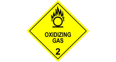 NTC ADGC: Combustive or Oxidising Gases Symbol