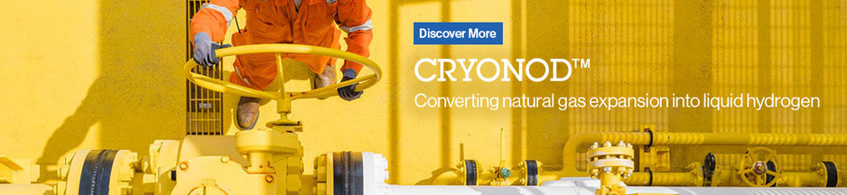 Cryonod - Converting natural gas expansion into liquid hydrogen