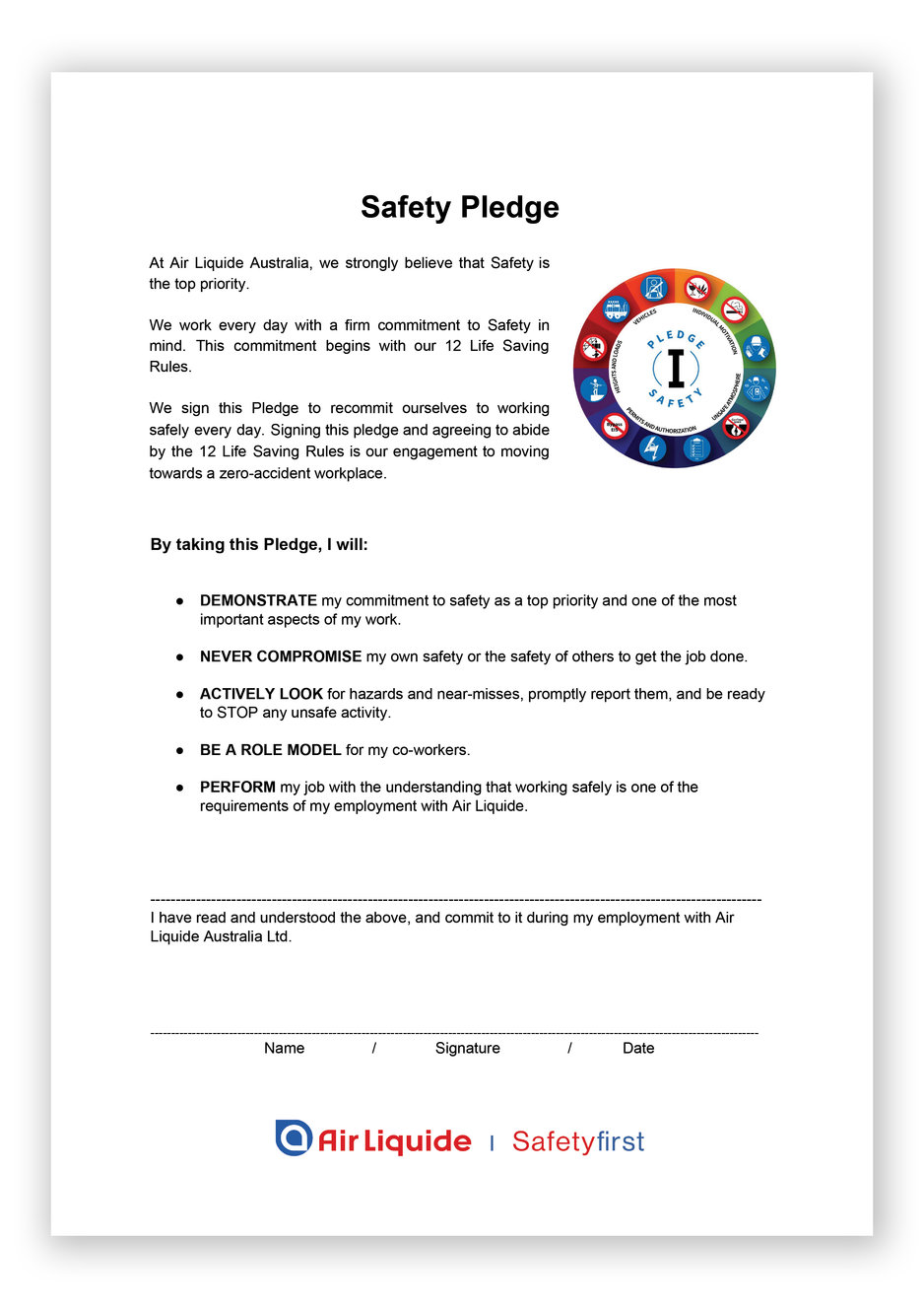 ALA Safety pledge